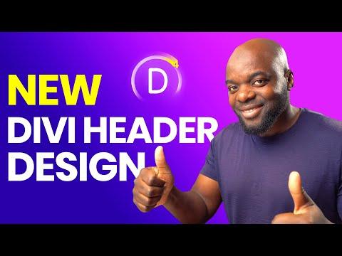 Divi header design - Divi 4.0 theme builder tutorial