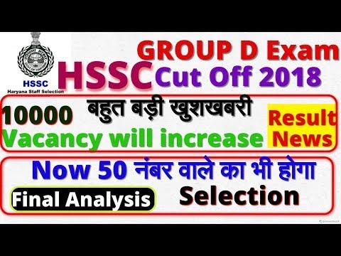HSSC Group D Result / परिणाम  Date | Final Analysis,  AnswerKey, HSSC Group D cut off 2018, increase (видео)