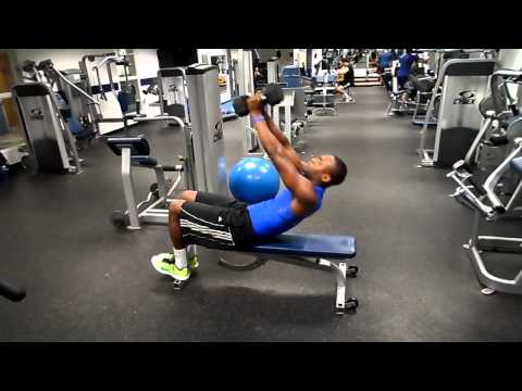 Dumbbell Triceps Extension to Situp
