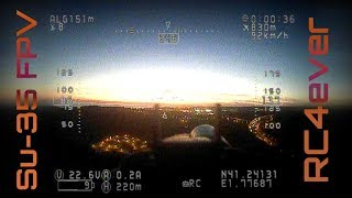 Relaxed Late Evening FPV Flights with the Su-35
