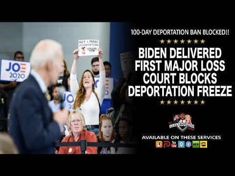 Court Gives Biden Embarrassing Loss Blocking His 100-Day Deportation Freeze