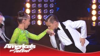 "Ruby & Jonas - Kids Dance and Boogie to ""Runaway Baby"" by Bruno Mars - America's Got Talent 2013"