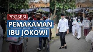 Video Prosesi Pemakaman Jenazah Sudjiatmi Notomihardjo: Jokowi dan Keluarga Tetap Gunakan Masker