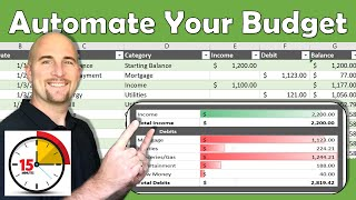 Excel Budget Template   Automate your budget in 15 minutes