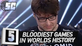 5 Bloodiest Games In Worlds History | LoL eSports