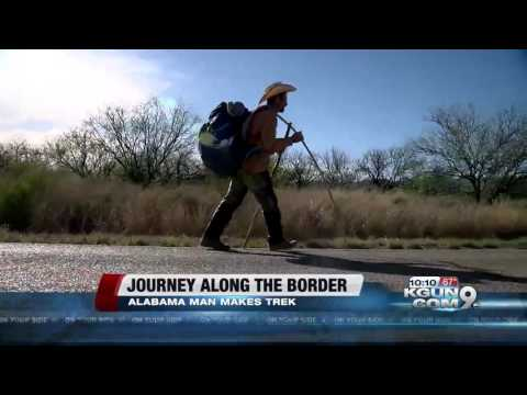 Alabama man walking the length of the U.S.-Mexico border
