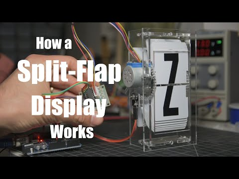 How Old School Split Flap Displays Work