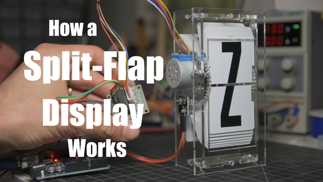 How a split-flap display works