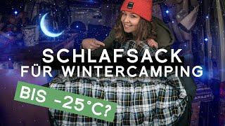 Schlafsack für Wintercamping im Mini Camper: Normani Antarctica Winter Schlafsack Extrem