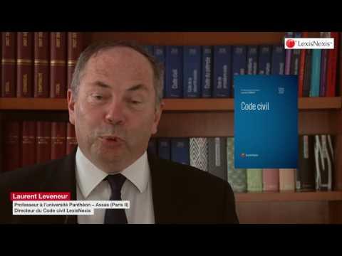 Code civil 2017 de LexisNexis, présenté par le professeur Laurent Leveneur