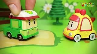 Видео с игрушками Робокар Поли и его друзья - НЛО. Мультик про машинки-трансформеры