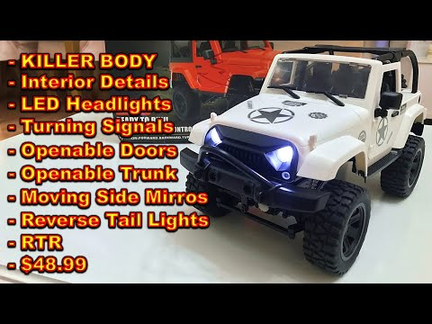 The BEST CHEAP RC Crawler with KILLER BODY! - FC Model F2 1/14 Scale Rock Crawler