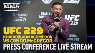Khabib Nurmagomedov vs. Conor McGregor - New York City - Press Conference Live Stream  Subscribe: http://goo.gl/dYpsgH  Check out our full video catalog: http://goo.gl/u8VvLi Visit our playlists: http://goo.gl/eFhsvM Like MMAF on Facebook: http://goo.gl/uhdg7Z Follow on Twitter: http://goo.gl/nOATUI Read More: http://www.mmafighting.com  MMA Fighting is your home for exclusive interviews, live shows, and more for one of the world's fastest-growing sports. Get latest news and more here: http://www.mmafighting.com