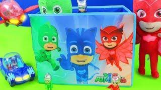 PJ Masks Unboxing: Spielzeugautos der Pyjamahelden Catboy, Gekko, Owlette & Romeo für Kinder