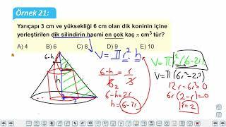 Eğitim Vadisi AYT Matematik 20.Föy Maksimum Minimum Problemleri 3 Konu Anlatım Videoları