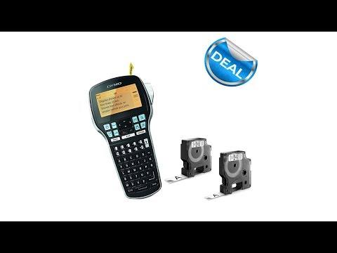 Aparat de etichetat profesional DYMO LabelManager 420P si o caseta etichete profesionale, 9mmx7m, negru/alb, DY915440 S0915440