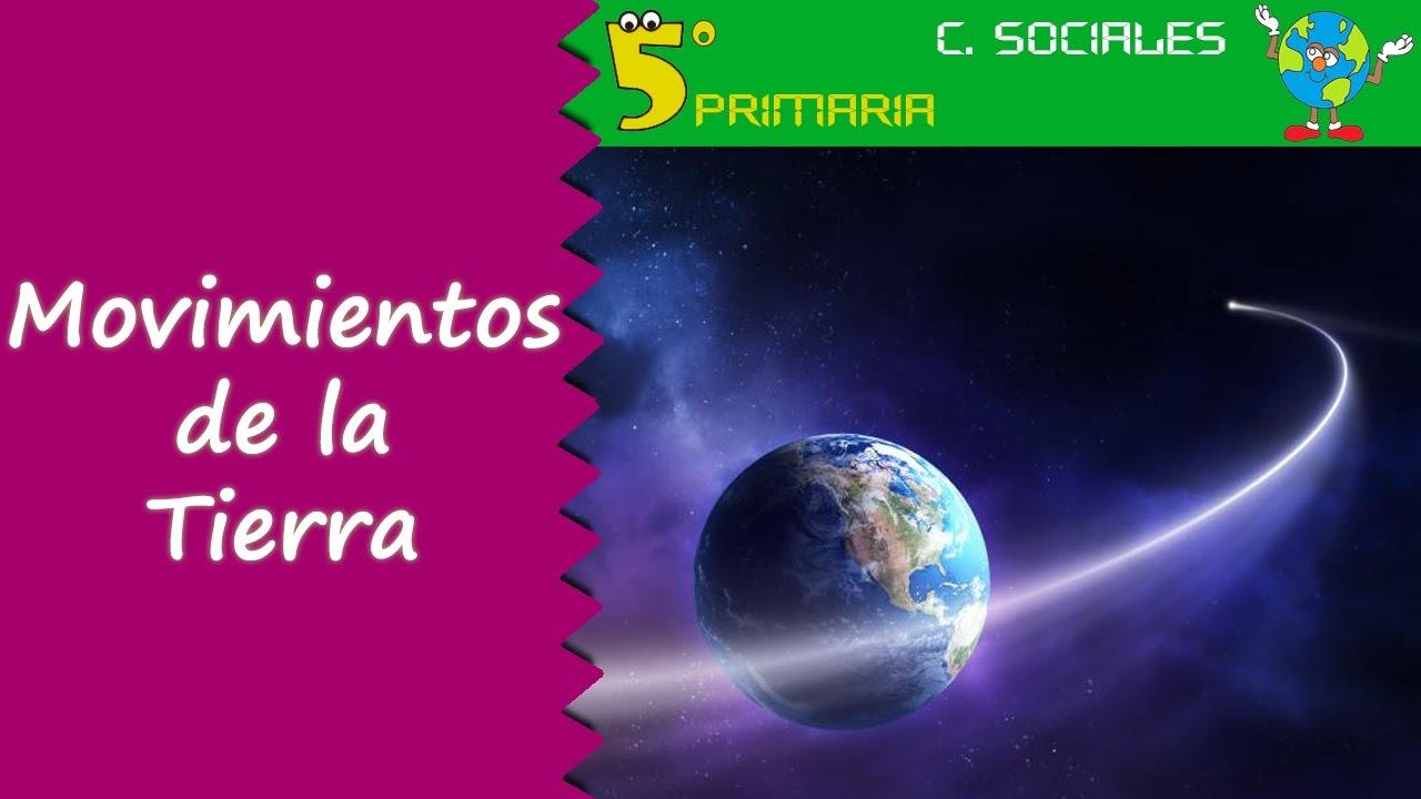 Movimientos de la Tierra. Sociales, 5º Primaria. Tema 1