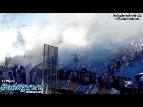 """""""Los jugadores me van a demostrar... (Torneo Inicial 2012 - Godoy Cruz vs. San Martín SJ)"""" Barra: La Banda del Expreso • Club: Godoy Cruz"""