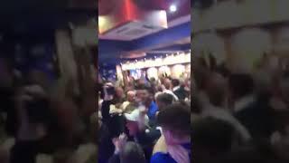 Rangers Fans Celebrate Ryan Kent's Old Firm Goal In The Louden