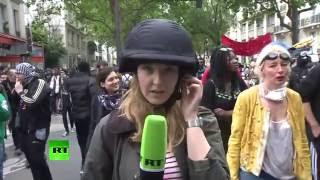 Проукраинские активисты напали на журналиста RT во время митинга в Париже