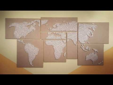 How to make a string art world map diy crafts gumiabroncs Gallery
