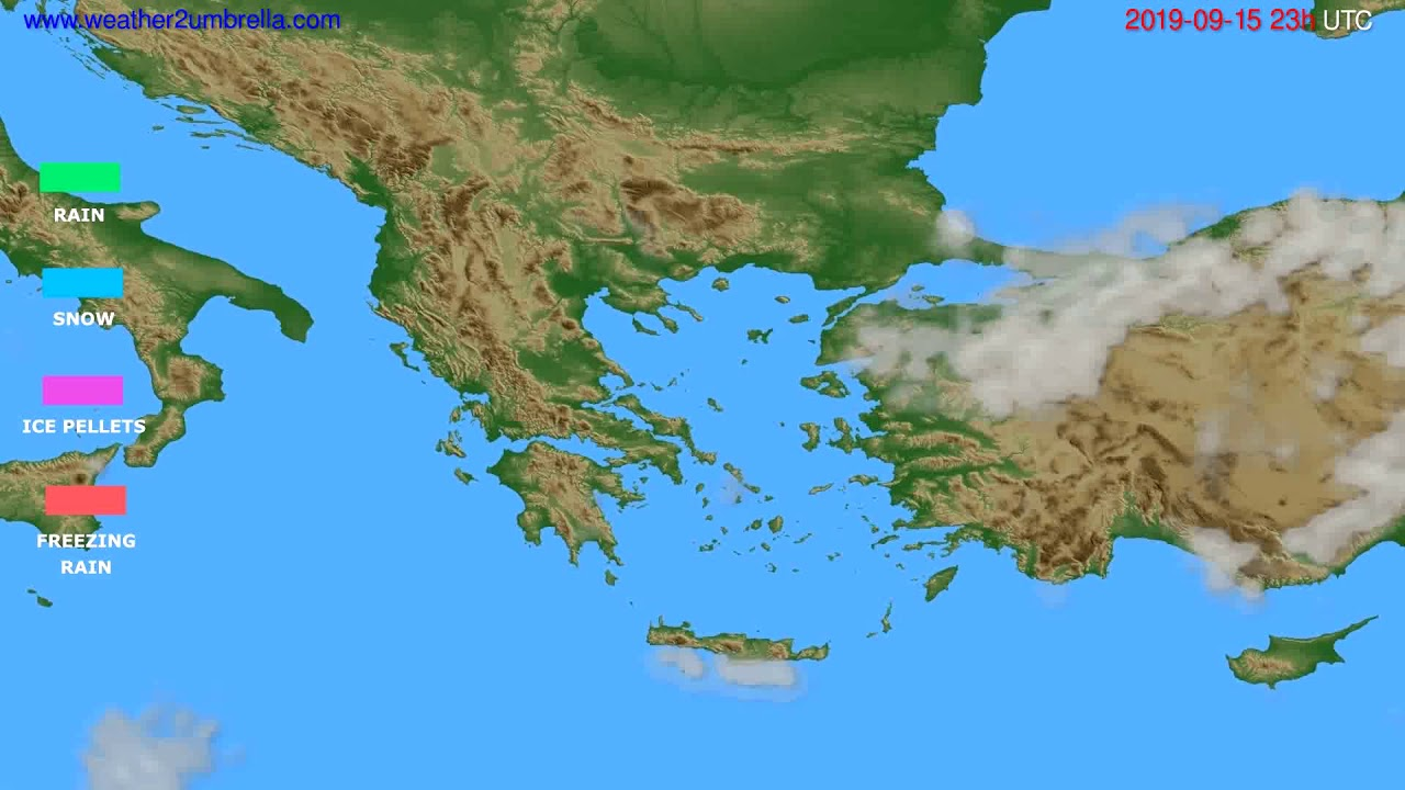 Precipitation forecast Greece // modelrun: 12h UTC 2019-09-12