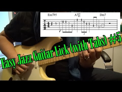 Easy Jazz Guitar Lick (with Tabs) #5