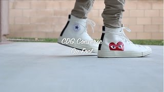 b49d2ac38cd cdg converse on feet - Free video search site - Findclip