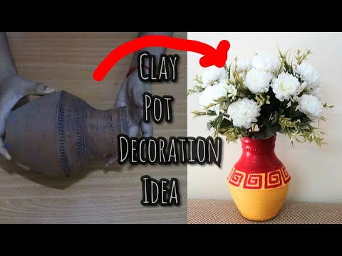 How To Decorate Pot At Home I Pot Decoration I Indian Festival I