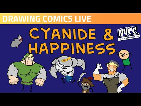 Cyanide and Happiness Draws Comics Live!