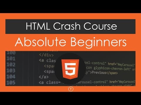 html tutorials crash course for absolute beginners by traversy media