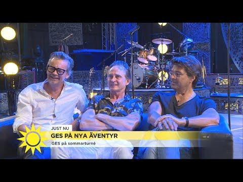 Efter 15 år - intervju med återförenade GES i replokalen   - Nyhetsmorgon (TV4)