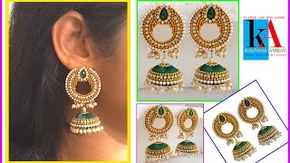 Making of Designer Bridal Silk Thread Reverse Chandbali Jhumkas : DIY
