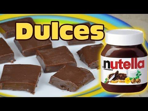 DULCES DE NUTELLA RAPIDO Y FACIL