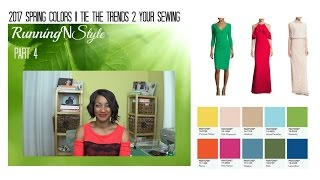 2017 Spring Colors Pt. 4- Tie the Trend 2 Your Sewing  RunningNStyle