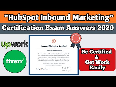 Hubspot Inbound marketing Certification Exam Answers 2020 ...