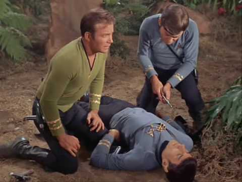 Spock takes a hit for Kirk