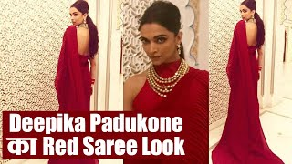 Isha Ambani Wedding: Deepika Padukone wins hearts in her red saree look | Boldsky