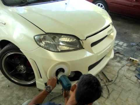 Video Toyota Vios 2005, Custom Front Bumper