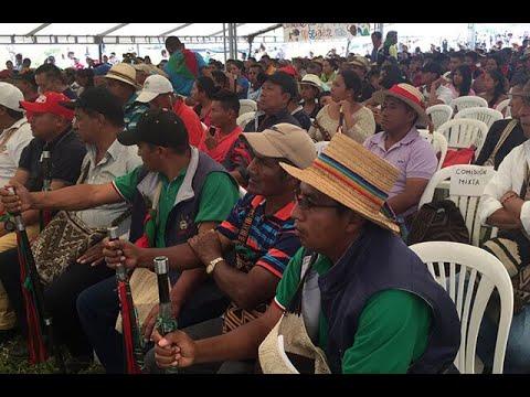 Indigenas exigen presencia de presidente Ivan Duque en minga adelantada en Cauca