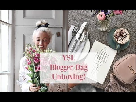 SAINT LAURENT UNBOXING!  YSL Blogger Bag + What Fits Inside?!       🌸 #FashionMumblrSpringEdit  🌸