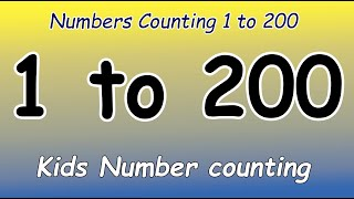 1 to 200 | 1 to 200 counting | 1 to 200 Number |  1-200 counting in english | counting numbers 1-200