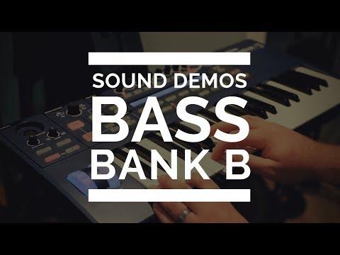 Novation Ultranova - Bass Sounds - Bank B - EVERY SOUND!