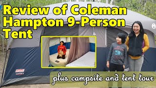 Review of Coleman Hampton 9 Person Cabin Tent with Site Tour   Family Vlog   Project Mateoshla