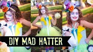 DIY Mad Hatter NO SEW Costume Tutu Dress - Alice In Wonderland