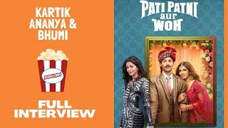 Kartik & Ananya's FUNNIEST FULL INTERVIEW | Bhumi Pednekar | Pati Patni aur Woh | RJ Sangy