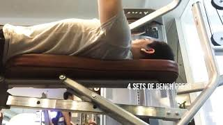 Chest and Tricep Workout. Just My 2nd week lol - Video Youtube