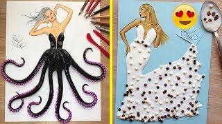Fashion Illustrator Creates Stunning Dresses From Everyday Objects