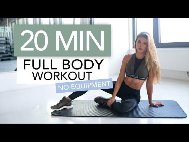 20 MIN FULL BODY WORKOUT // No Equipment | Pamela Reif