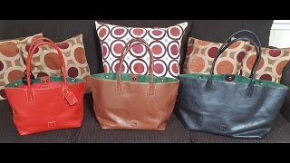 Dooney & Bourke- Florentine Russel Bag Size Comparison (S/M/L)